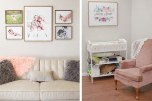 seating areas and changing table