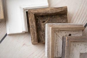 barn wood frame corners