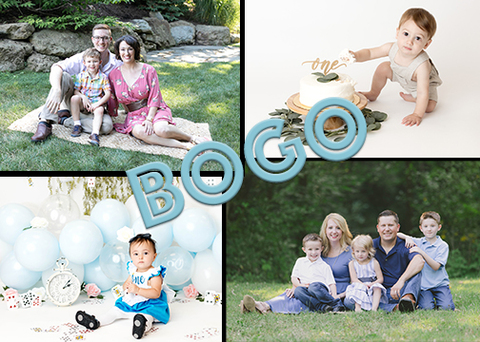 BOGO Special Offer for Cake Smash Session and Family Portrait Session